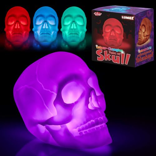 Tobar Colour Changing Skull Mood Night Light Batteries Included